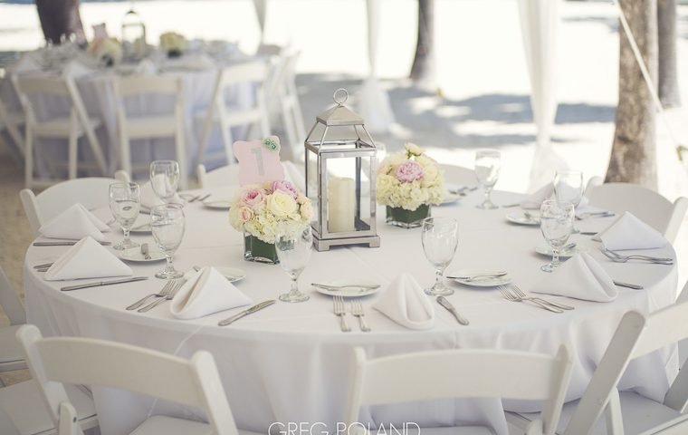 Beach Wedding decorations on a budget. Florida Keys wedding decorations.
