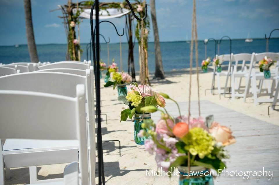Rustic vintage beach wedding Florida