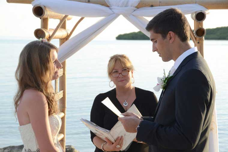 Florida Keys wedding officiant, weddings in Paradise