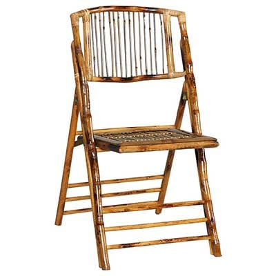 bamboo folding chair for weddings in Key Largo Florida