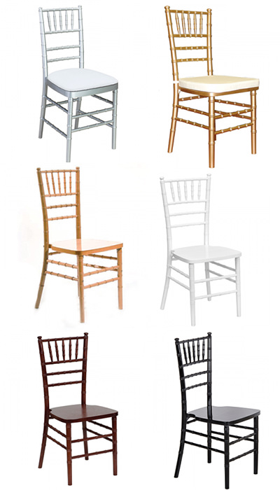 Chairs rental for weddings in Key Largo Florida