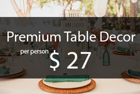 Premium wedding decor table package