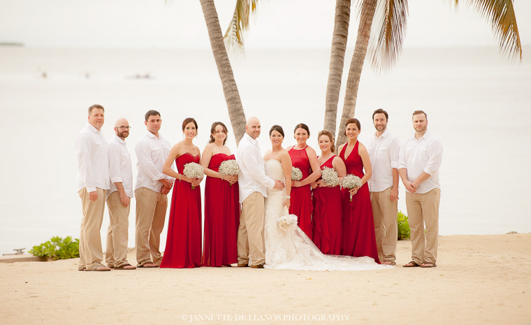 Red and White Inspired Beach Wedding in Florida