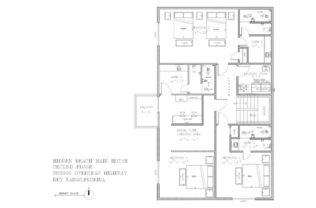 Hidden Beach Main House Second Floor