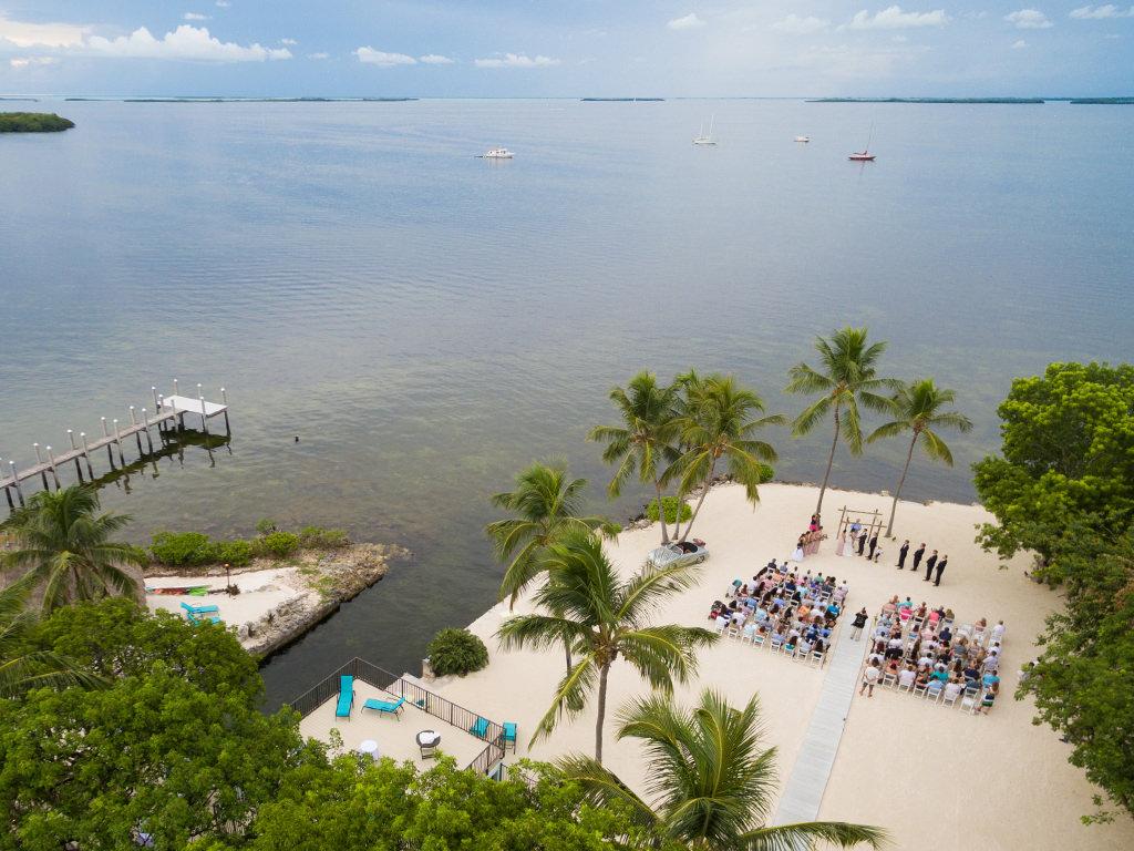 a huge private beach wedding venue in florida