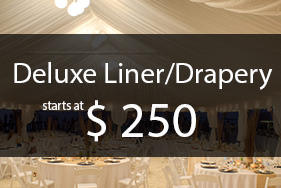 Deluxe wedding decor packages, Liners and Drapery