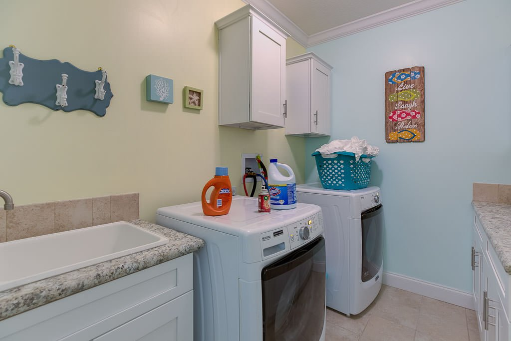 Second level laundry room.