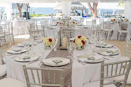 Premium table setting wedding decor and party rentals Key Largo Florida Keys