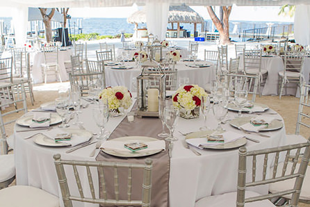 Premium table setting wedding decor and party rentals Key Largo Florida Keys