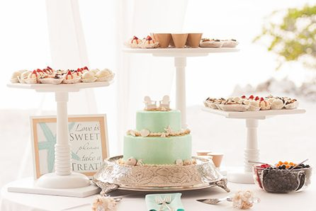 Wedding cake and dessert package